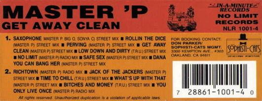 Master P - Get Away Clean Cassette